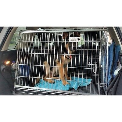 Land Rover Freelander 2 Car Dog Cage Sloping Crate Pet Safety Cages Puppy Travel