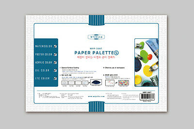 Paper Palette Small 30 Sheets Mijello 255x175 MPP-3087 Watercolor Acrylic Oil