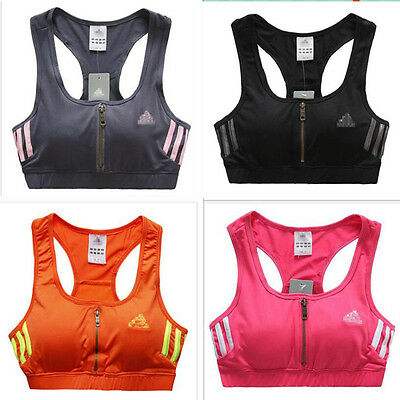 Women Fitness/ Body Building Yoga Shirts with Bra Sports Aerobics Clothing