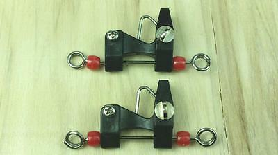 2 x Outrigger / Downrigger / Kite Release Clip NEW HIGH VIS RED BEAD Top Quality
