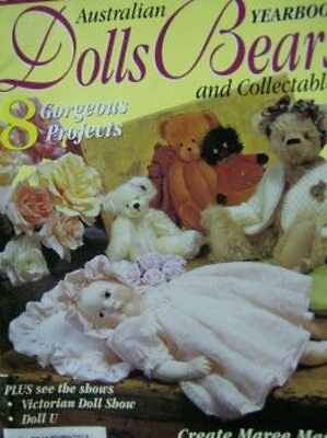 Australian Dolls Bears & Collectibles V9 #1  -8 Projects-Cloth Doll/Louise Bear