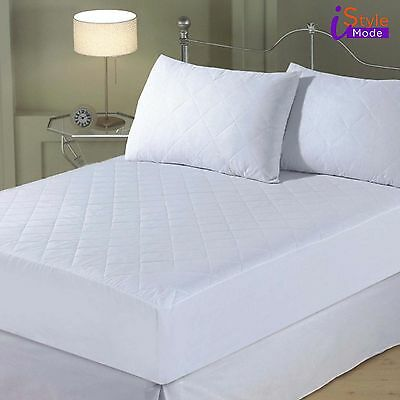 New Hotel Quality Quilted Mattress Protector Sizes Single Double King Bed Cover