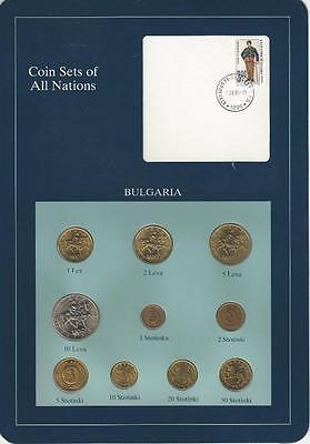 Coin Sets of All Nations - Bulgaria 10 coin set, SCARCE