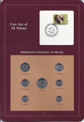 Coin Sets of All Nations, Brazil, 7 Coin Set