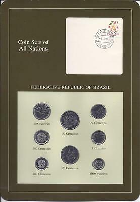 Coin Sets of All Nations, Brazil, 8 Coin Set