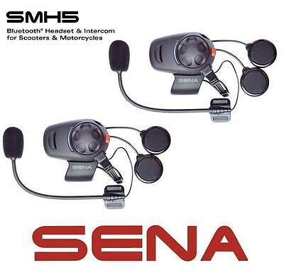 SENA SMH5 DUAL Motorcycle Bluetooth Communication System Intercom Headsets