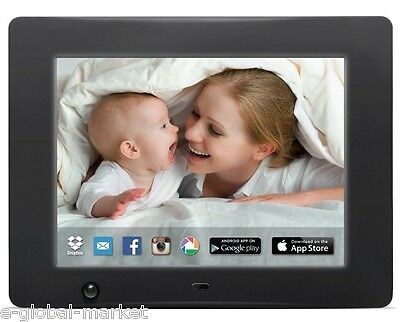 WI-FI Frame Digital Photo Storage 12 inch Pictures HD Video Audio USB Image Card