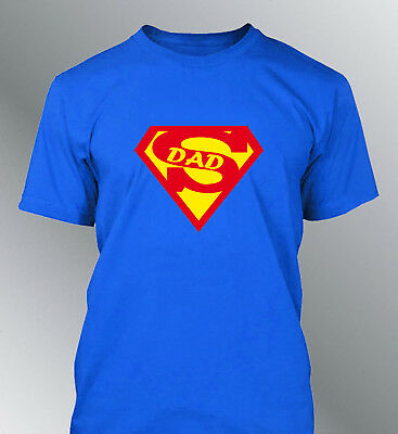 Tee shirt personnalisé SUPER DAD papa fete peres homme superman daddy father