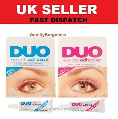 Brand New DUO False Eyelash Lash Glue Adhesive 9g, Dark or Clear, Waterproof UK