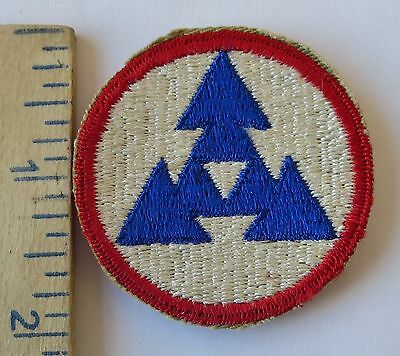 3rd LOGISTICAL COMMAND U.S. ARMY - ORIGINAL Vintage Cut Edge PATCH