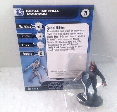 Star Wars Force Unleashed 36/60 Gotal Imperial Assassin (C) Miniature