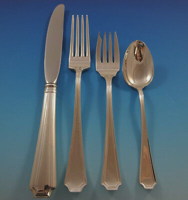 Fairfax by Gorham Sterling Silver Flatware Set 6 Service 24 Pieces Place Size