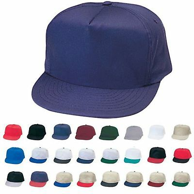 1 Dozen Blank Two Tone 5 Panel Baseball Cotton Twill Hats Caps Wholesale Lot