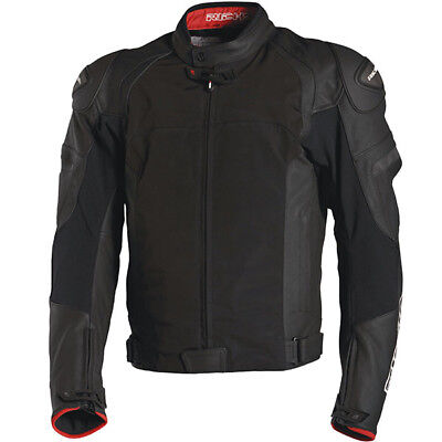 Richa Ballistic Evo Leather & Textile Mix Motorcycle Jacket - Black