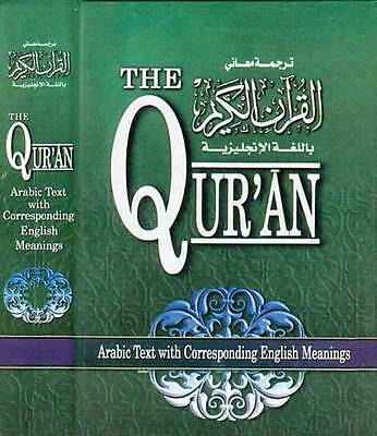 THE QURAN, Original Arabic text, English translation by Saheeh Int. Hardcover