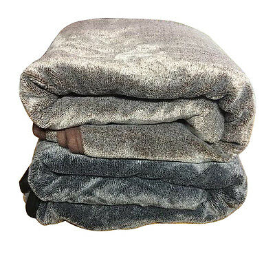 Throw Size Winter Faux Mink Fur Warm Blanket Quilt Comforter