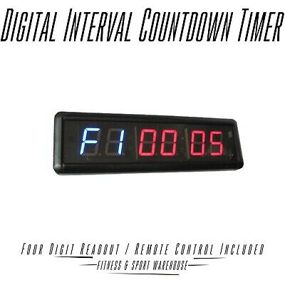 Digital Timer Interval Clock Countdown Home Gym Body Strength Workout Equipment