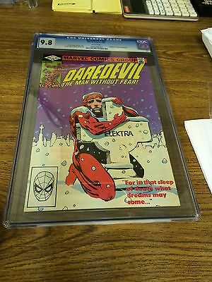 Daredevil 182 Cgc 9.8  White Pages Frank Miller Punisher Kingpin