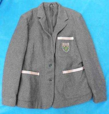 Age 16 or adult grey traditional wool school blazer jacket B.M.S Fits 10 12 UK