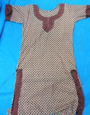 fits 10 12 UK Indian Pakistani Kameez silk tunic top hardly worn summer Asian