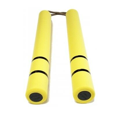 Hot Sale Bruce Lee Nunchaku Safe Martial Arts Muscle Trainer Practice Yellow