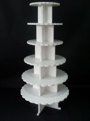 CHUNKY 8MM wedding birthday party cupcake cup cake stand 6 tier strong petal