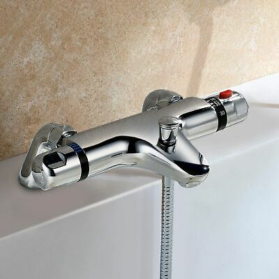 Deck Mounted Chrome Thermostatic Bath Shower Mixer Tap