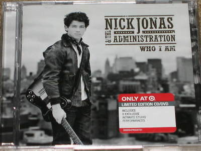 NICK JONAS & THE ADMINISTRATION Who I Am CD + EXCLUSIVE DVD! RARE! OOP! brothers