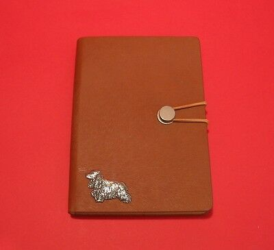 Cocker Spaniel Motif A6 Tan Note Book Journal Father Mothers Dog Christmas Gift