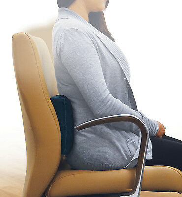 Auto Inflating Lumbar Cushion Relieves Back Pain - Portable Easy Storage
