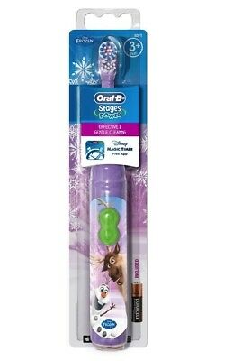 Oral B Stages Disney Frozen Kids Battery Toothbrush with Magic Timer App for 3+