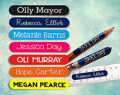 28 x Personalised Name Cute Kids Stickers Labels Stick On - School & Stationary