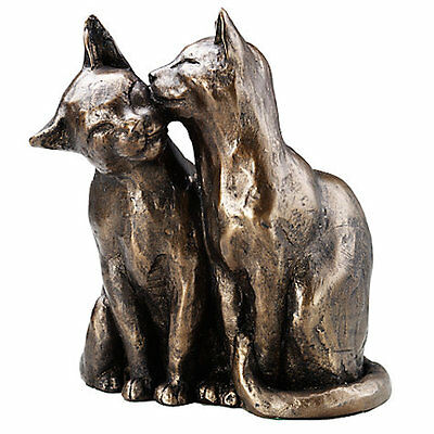 Frith cats Sculpture YUM YUM & FRIEND in cold cast bronze - S052