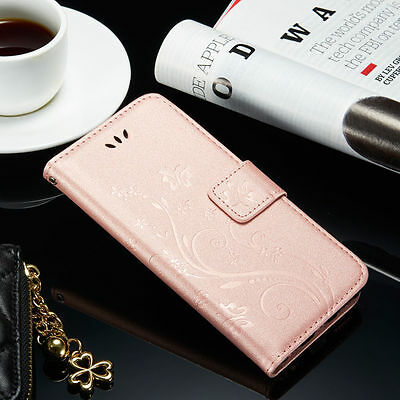 Leather Magnetic Flip Wallet Card Stand Case Cover For iPhone & Samsung Galaxy