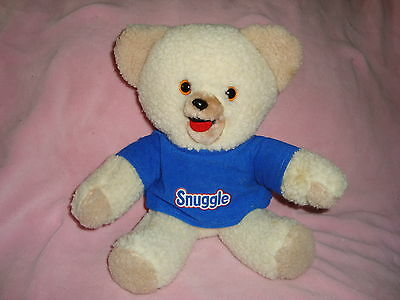 "Snuggle Bear 1985 Lever Detergents Limited Plush 10"" made exclusively for Lever"