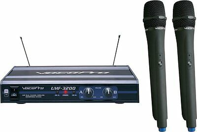 VocoPro UHF-3200-6 - UHF-Dual Channel Wireless Microphone System