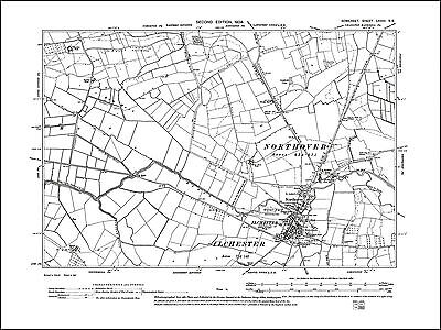 Ilchester, old map Somerset 1904: 73SE repro