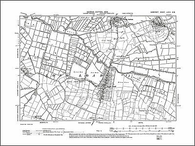 Long Load, Long Sutton, Knole, old map Somerset 1904: 73SW repro