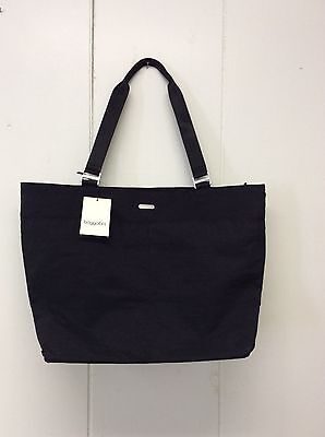 Baggallini Carryall Tote Black Travel Bag Carry On New
