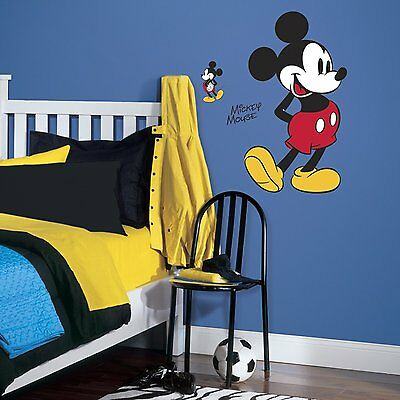 """DISNEY MICKEY MOUSE NEW BiG 35"""" Wall Decals Mural Friends Room Decor Stickers"""