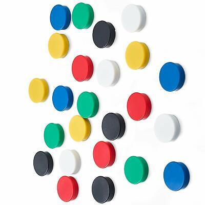 Pack of 25, Scribble 25 mm Value Whiteboard/Fridge Magnets, Assorted Colours.