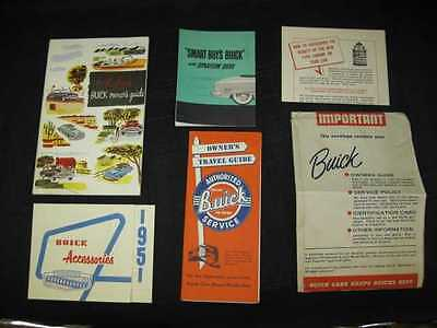 1951 BUICK Car Owner's Manual Kit Package NOS 6 pcs