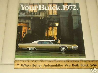 1972 BUICK Color Car Sales Brochure Catalog ORIG