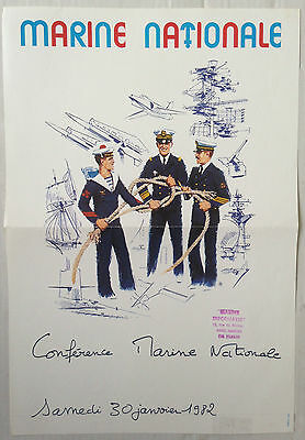 Affiche Marine Nationale Conference Nantes 1982