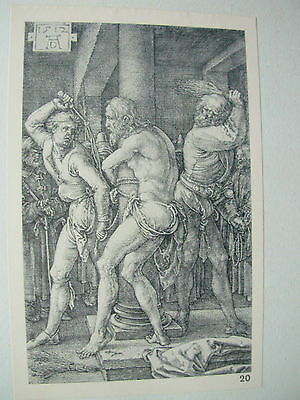ALBRECHT DURER VINTAGE COPPER ENGRAVING FLAGELLATION - PASSION No 6