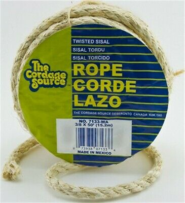 BLUE HAWK X 525-ft Twisted Sisal Rope Landscaping Other