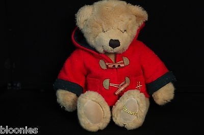 Harrods Teddy Bear in Red Toggle Coat Plush Toy Doll