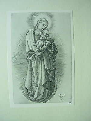 Albrecht Durer Vintage Copper Engraving Madonna With Child