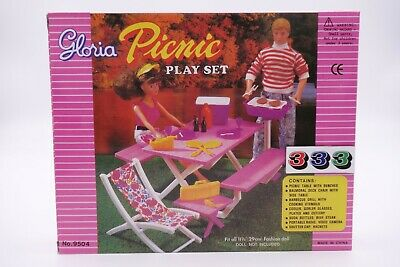 Gloria,Barbie Doll Furniture/(9504) Picnic Play Set