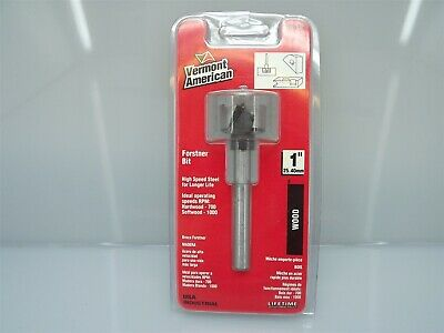 New Vermont American 1'' Wood Forstner Bit Drill Bit High Speed Steel 14516